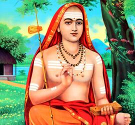 Raffigurazione di Ādi Śaṅkarācārya, autore dell'Ātmabodha