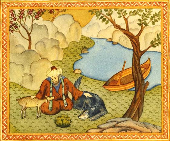 raffigurazione sufi e animali