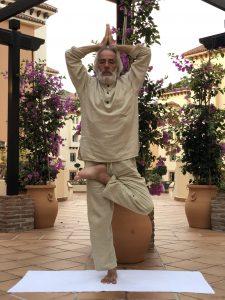 Posizione yoga vṛkṣāsana
