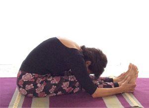 Posizione yoga pascimottanasana