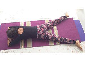 Posizione yoga makarasana