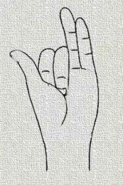 immagine posizione della mano in nāḍī śodhana