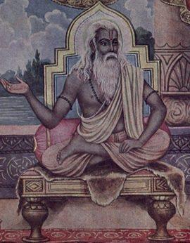 Raffigurazione artistica del maestro a gambe incrociate