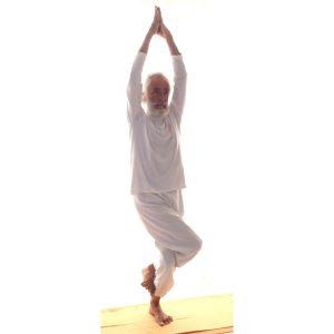 Posizione yoga garuḍāsana, seconda fase