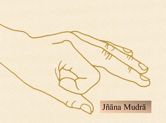 Immagine didattica del Jñāna mudrā