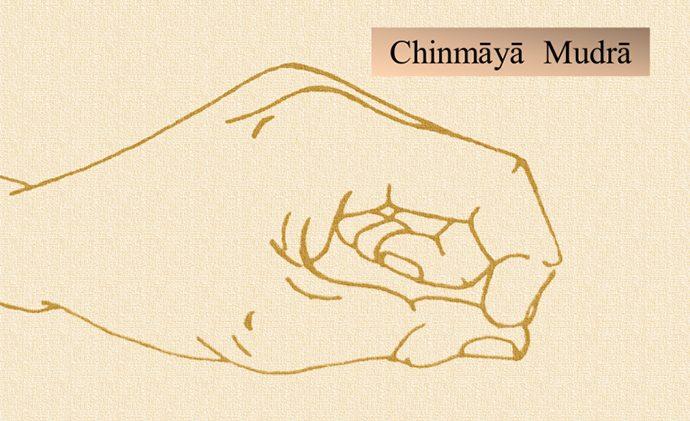 Immagine didattica del Chinmāyā Mudrā