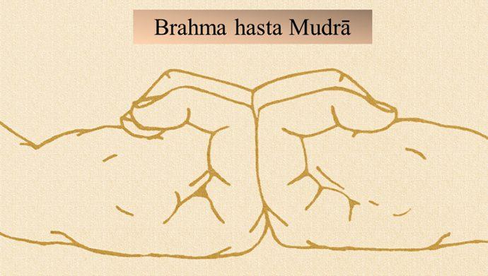 Immagine didattica del Brahma hasta Mudrā