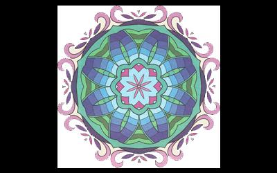 Yantra pieno di colori