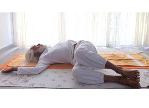 Posizione yoga jānu śakti vikasat
