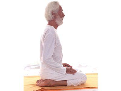 Esecuzione della posizione vajrāsana